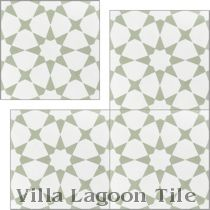 """Taza Green"" Cement Tile"
