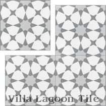 """Taza Silver"" Cement Tile"