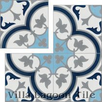 "In-Stock ""Tulips B Ice"" from Villa Lagoon Tile."