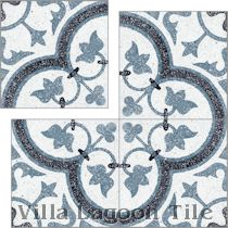 """Tulips B Spring Terrazzo"" Cement Tile"