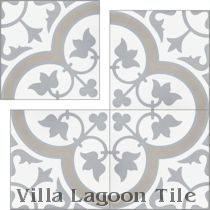 """Tulips B Vintage"" Cement Tile"