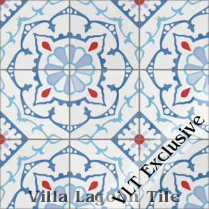 """Amalena Boardwalk"" Cement Tile, from Villa Lagoon Tile, from Villa Lagoon Tile."