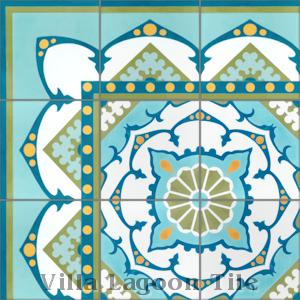 """Amalena Meadow"" Cement Tile, from Villa Lagoon Tile, from Villa Lagoon Tile."