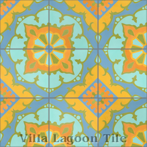 """Amalena Sunset"" Cement Tile, from Villa Lagoon Tile, from Villa Lagoon Tile."