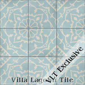 """Amalena Velvet Sky"" Cement Tile, from Villa Lagoon Tile, from Villa Lagoon Tile."
