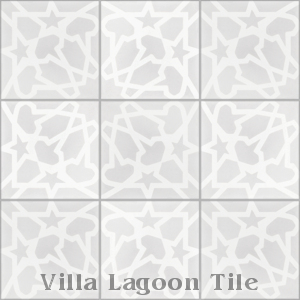 """Andalusia Fog"" black and white Cement Tile, from Villa Lagoon Tile."