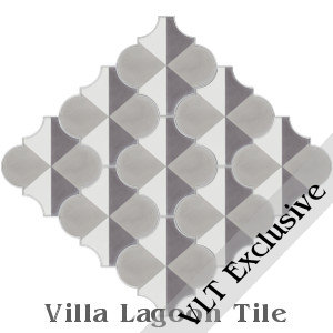"""Arabesque Classic, Terrace Shadow"" Cement Tile, from Villa Lagoon Tile."