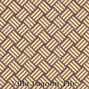 """Basket Weave"" Cement Tile, from Villa Lagoon Tile."