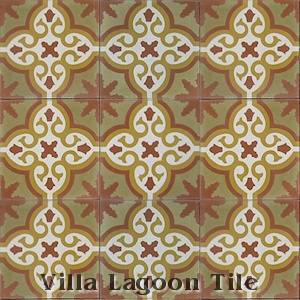 """Bocassio Gold"" Cement Tile, from Villa Lagoon Tile."
