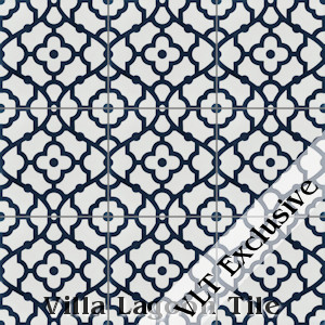 """Breeze Blue & White"" Cement Tile, from Villa Lagoon Tile."
