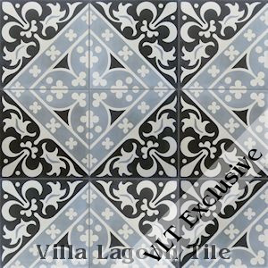 """Canterbury Three"" Cement Tile, from Villa Lagoon Tile."