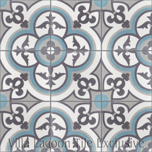 """Caprice Celeste"" Cement Tile, from Villa Lagoon Tile, from Villa Lagoon Tile."