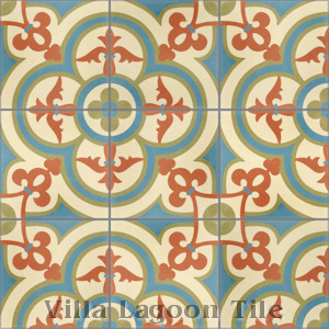 """Caprice June"" Cement Tile, from Villa Lagoon Tile, from Villa Lagoon Tile."