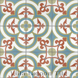 """Caprice Montana"" Cement Tile, from Villa Lagoon Tile, from Villa Lagoon Tile."