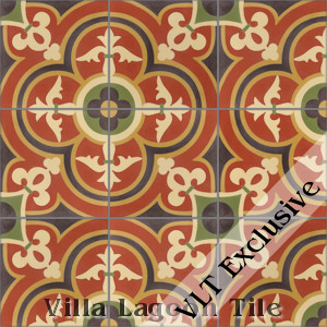 """Caprice Grove"" Cement Tile, from Villa Lagoon Tile, from Villa Lagoon Tile."