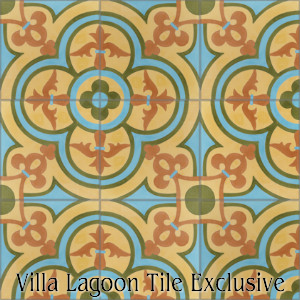 """Caprice Summer"" Cement Tile, from Villa Lagoon Tile, from Villa Lagoon Tile."