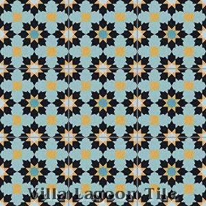 """Casablanca"" Cement Tile, from Villa Lagoon Tile."