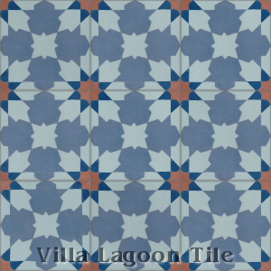 """Casablanca Grande"" Cement Tile, from Villa Lagoon Tile."