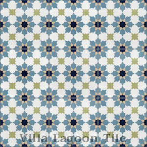 """Casablanca Navy"" Cement Tile, from Villa Lagoon Tile."