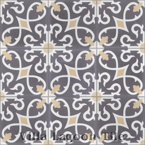 """Charlotte Excalibur"" Cement Tile, from Villa Lagoon Tile."