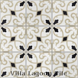 """Charlotte Primero"" Cement Tile, from Villa Lagoon Tile."