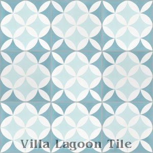 """Circulos A Cielo"" Cement Tile, from Villa Lagoon Tile."