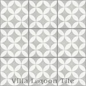 """Circulos B Urban Gray Terrazzo (PS)"" Cement Tile, from Villa Lagoon Tile."
