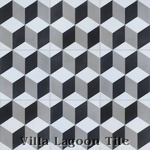 """Cubes"" Cement Tile, from Villa Lagoon Tile."