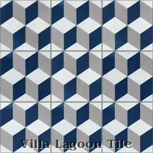 """Cubes A Nautique"" Cement Tile, from Villa Lagoon Tile."