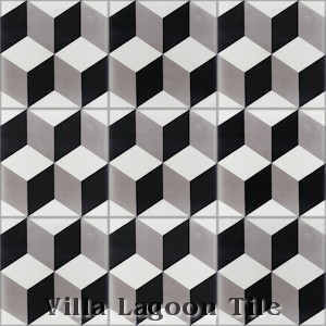 """Cubes A Sencillo"" Cement Tile, from Villa Lagoon Tile."