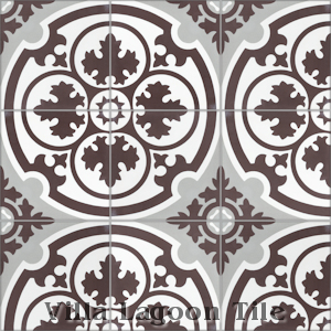 """Danielle Espresso"" Cement Tile, from Villa Lagoon Tile."