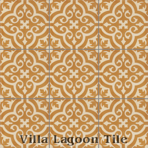 """Fiore A Frances"" Cement Tile, from Villa Lagoon Tile."