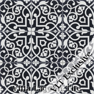 """Gypsy Black & White"" Cement Tile, from Villa Lagoon Tile."