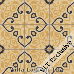 """Gypsy Gold"" Cement Tile, from Villa Lagoon Tile."