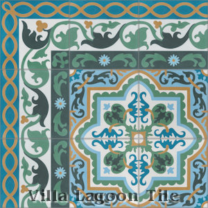 """Marinas Border"" Cement Tile, from Villa Lagoon Tile."