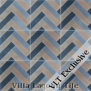 """Herringbone"" Cement Tile, from Villa Lagoon Tile."