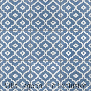 """Kasbah Washed Denim"" Cement Tile, from Villa Lagoon Tile."