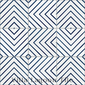 """Labyrinth Berry Blue"" Cement Tile, from Villa Lagoon Tile."