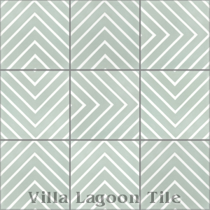 """Labyrinth Pale Jade"" Cement Tile, from Villa Lagoon Tile."