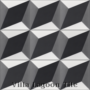 """Large Cubes Excalibur"" Cement Tile, from Villa Lagoon Tile."