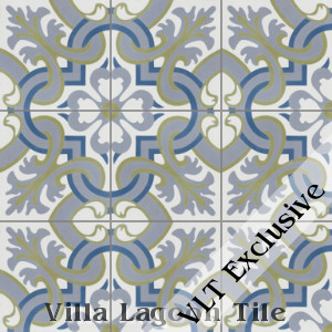 """Madeira Spring"" Cement Tile, from Villa Lagoon Tile."
