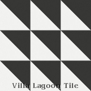 """Man Overboard"" Cement Tile, from Villa Lagoon Tile."