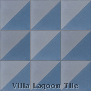 Man Overboard cement tile, in Washed Denim & Arctic Gray, from Villa Lagoon Tile.