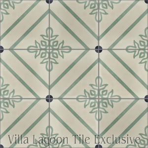 """Marbella"" Cement Tile, from Villa Lagoon Tile."