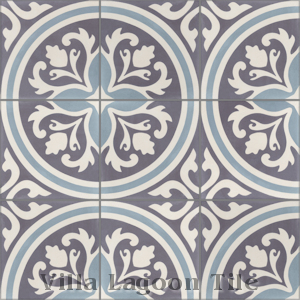 """Mia"" Cement Tile, from Villa Lagoon Tile."