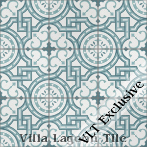 """Michael Velvet Sky"" Cement Tile, from Villa Lagoon Tile."