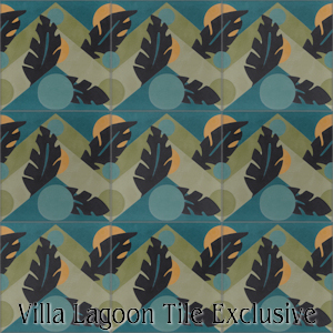 """Moon Over Havana Jazz"" Cement Tile, from Villa Lagoon Tile."