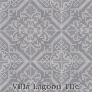 """Nuevo Castillo Carrara"" Pattern Cement Tile, from Villa Lagoon Tile."
