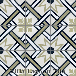 """Orleans"" Cement Tile, from Villa Lagoon Tile."