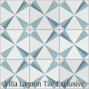 """Polaris Azul"" Cement Tile, from Villa Lagoon Tile."
